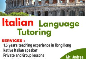 Academically Trained and Experienced Italian Language Tutor/Teacher